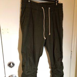 Olive H&M Zipper Pants